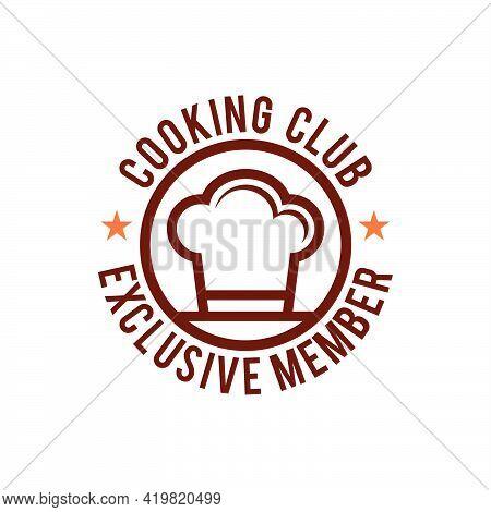 Chef Hat Logo Badge Vector Icon Illustration