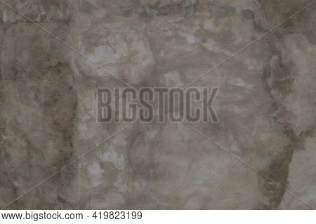 Flat Artistic Concrete Wall Manually Flattened - Full Frame Background And Texture