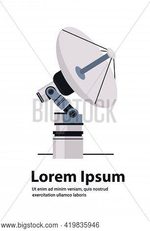 Space Exploration Astronautics Technology Concept Satellite Dish Antenna For Telecommunication