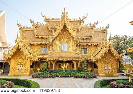 Chaing Rai, Thailand - March 5 ,2021 : The Toilet At White Temple (wat Rong Khun) Is One Of The Most