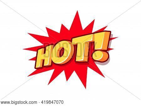 Hot 3d Text, Sale Tag, Hot Sale 3d Letters.