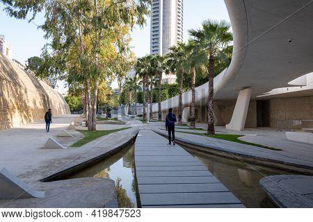 Nicosia, Cyprus -  March 22 2021: The Modern And Futuristic Architecture Of Eleftheria Square In Nic