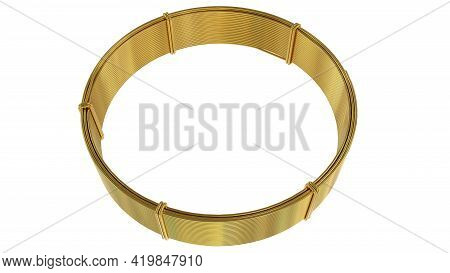 Gold Or Brass Wire Skein - Isolated Cg Industrial 3d Illustration
