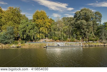 Melbourne, Australia - May 17, 2019: Herring Island Public Recreational Park With A Ferry Landing In