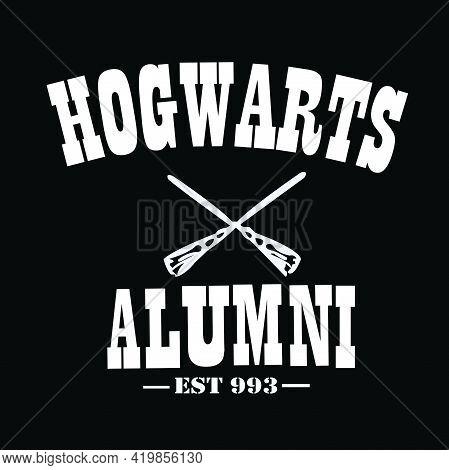 Hogwarts Alumni Est 993 With Ice Hockey Stick