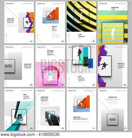 A4 Brochure Layout Of Covers Templates For Flyer Leaflet, A4 Brochure Design, Presentation, Magazine