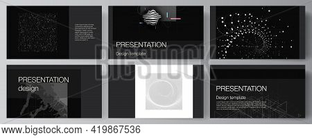 Vector Layout Of The Presentation Slides Design Business Templates, Template For Presentation Brochu
