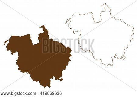 Rostock District (federal Republic Of Germany, Rural District, State Of Mecklenburg-vorpommern, West