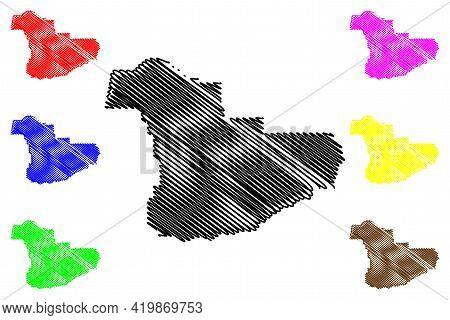 Douglas County, Oregon State (u.s. County, United States Of America, Usa, U.s., Us) Map Vector Illus