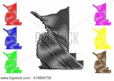 Gilliam County, Oregon State (u.s. County, United States Of America, Usa, U.s., Us) Map Vector Illus