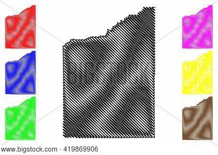 Jackson County, Oregon State (u.s. County, United States Of America, Usa, U.s., Us) Map Vector Illus