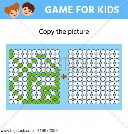 Education Logic Game For Preschool Kids. Copy The Picture. Leaf. Learning Symmetry For Preschool Chi