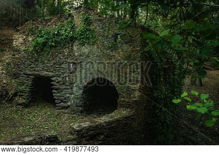 Old Mills Near Lourido River In The Park Of The Estalisnau Fountain In Maceda - Ovar, Portugal.