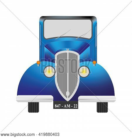 Graphics Showing The Visualization Of The Car With The Body Line From The Twenties Of The Twentieth