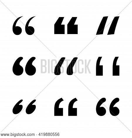 Quote Concept Icon, Quotation Speech Bubble Symbol, Vector Illustration Dialog Sign, Text Mark Graph