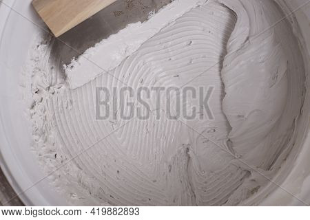 Plaster Texture. Background For Builders. Building Mixture