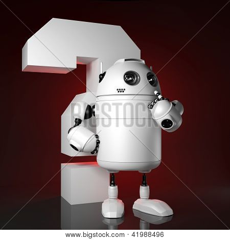 Robot With Red Question Mark