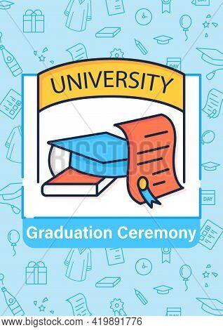 University Graduation Brochure. Successful Training Completion.diploma.masters Degree Template. Flye
