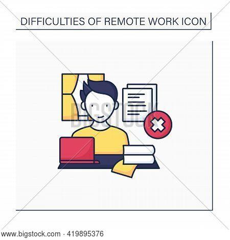 Remote Work Color Icon. Tribal Knowledge. Lack Of Documentation. Organization Collective Wisdom.care