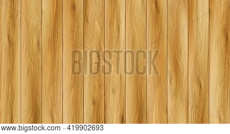 Realistic Wood Texture Background. Wood Floor Texture. Vector Illustration
