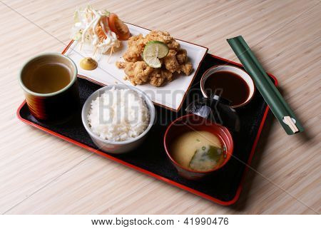 Chicken Karaage Set Menu