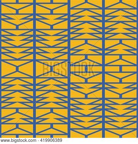 Abstract Irregular Geometric Seamless Pattern, Afro Inspired Aztec Herringbone Background Vector Ill