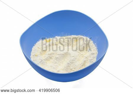 Cooking Dough Mixture Of Wheat And Corn Flour And Instant Yeast