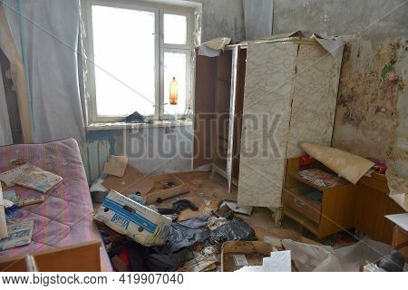 The Lost Abandoned City Near Vorkuta, Abandoned Apartments In The City Closed After The Departure Of