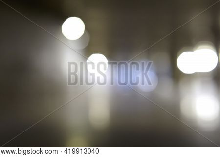 Abstract Texture With Defocused Night Lights Glow.