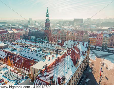 Wroclaw, Poland 02.15.2021 - Cathedral Of St. John The Baptist In Wroclaw, Poland