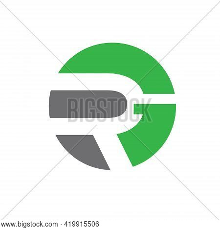 Rg Monogram. Letter Based Logo, Emblem Style.