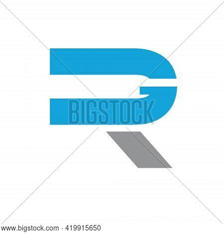 Rg Or Gr Monogram. Letter Based Logo