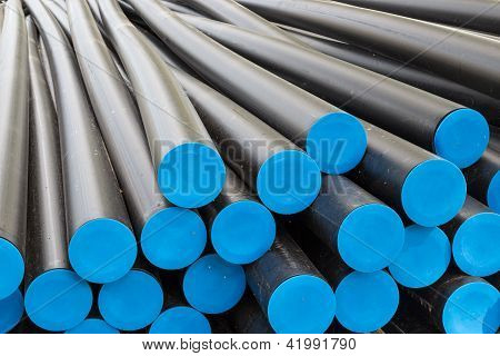 Big Plastic Tubes Before Electricty Cables