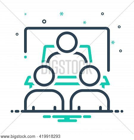 Mix Icon For Debriefing Interview  Counseling Communication Meeting Employee People