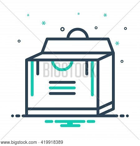Mix Icon For Pack  Packing Parcel Shipping Store Box
