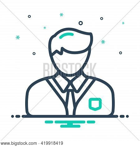 Mix Icon For Professional Professed Occupational  Entrepreneur Business-man