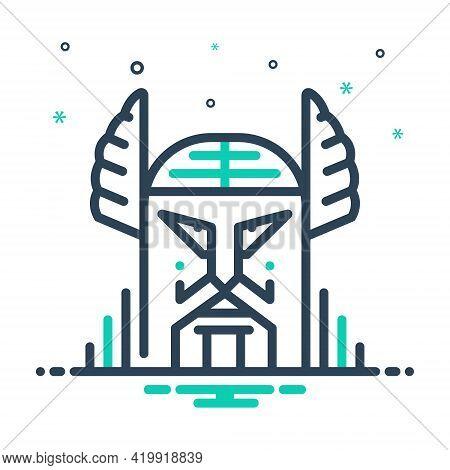 Mix Icon For Odin Norse Symbol Supreme Topmost