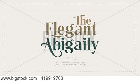 Elegant Wedding Alphabet Letters Font And Number. Typography Luxury Classic Lettering Serif Fonts De