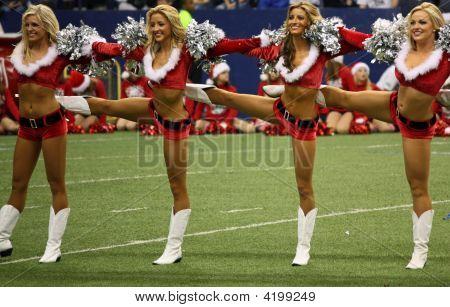 Cowboys Cheerleaders Christmas Halftime Line