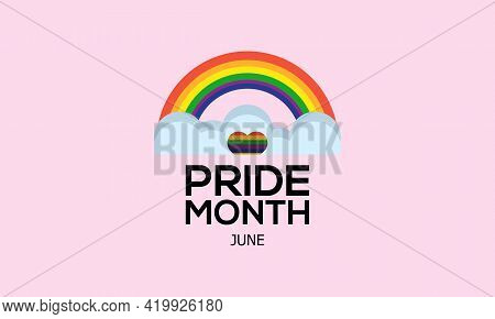 Pride Month Awareness Concept Observed On June Every Year. Pride Month Template For Background, Bann