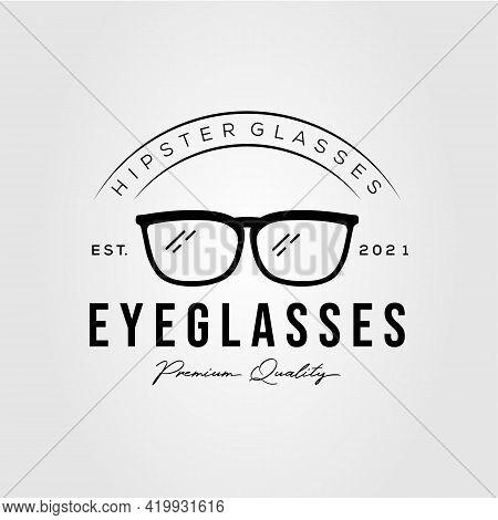 Glasses Logo. Sun Glasses, Eyeglasses Shop Logo Template Vector Illustration Design