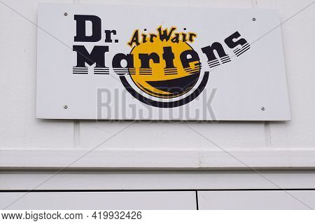 Bordeaux , Aquitaine France - 05 05 2021 : Dr. Martens Logo Sign Store And Brand Text For British Fo