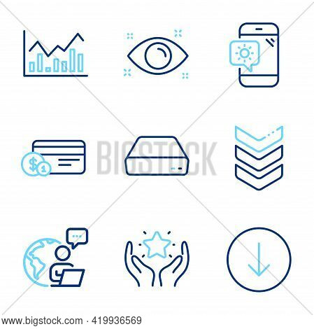 Business Icons Set. Included Icon As Scroll Down, Ranking, Weather Phone Signs. Payment Method, Info