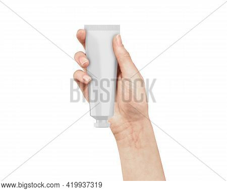 White Glossy Plastic Tube For Cosmetics - Beauty Cream, Gel, Skin Care, Moisturiser, Toothpaste. Pac