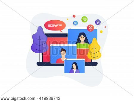 Swipe Up, Search And Graph Chart Icons Simple Set. Home Education Class. Online Course Banner. Energ