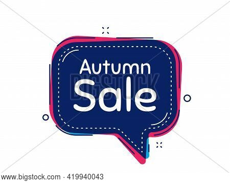 Autumn Sale. Thought Bubble Vector Banner. Special Offer Price Sign. Advertising Discounts Symbol. D