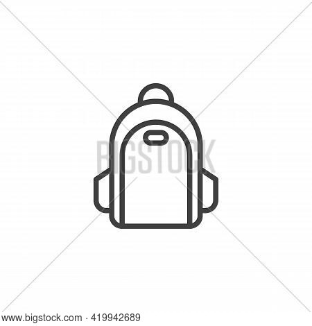 Fashionable Backpack Line Icon. Linear Style Sign For Mobile Concept And Web Design. Stylish Backpac