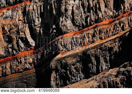 Geology, Rock Layer, Soil Structure - Igneous Rock, Abstract Line