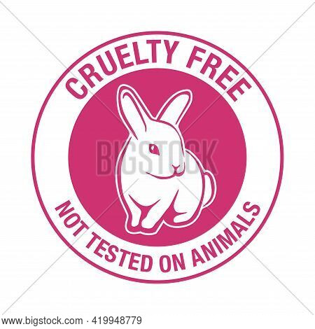 Cruelty Free Sign - Circular Emblem For Products That Not Tested On Animals - Cosmetics Packaging Ma