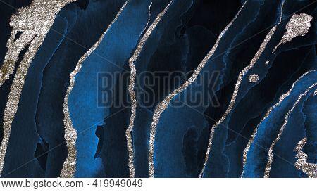 Shimmering dark blue watercolor background